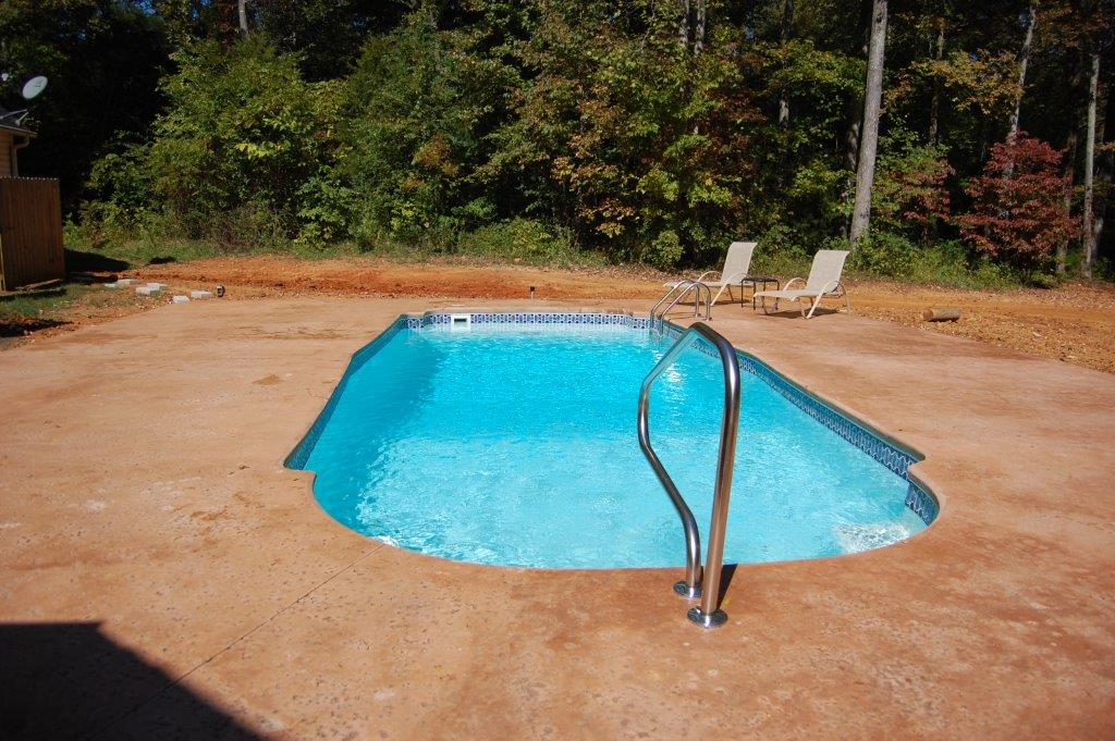 Our work k built construction of burlington nc for Fiberglass pools above ground