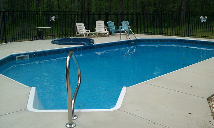 Decking coping k built construction of burlington nc general contractors for Painting aluminum swimming pool coping