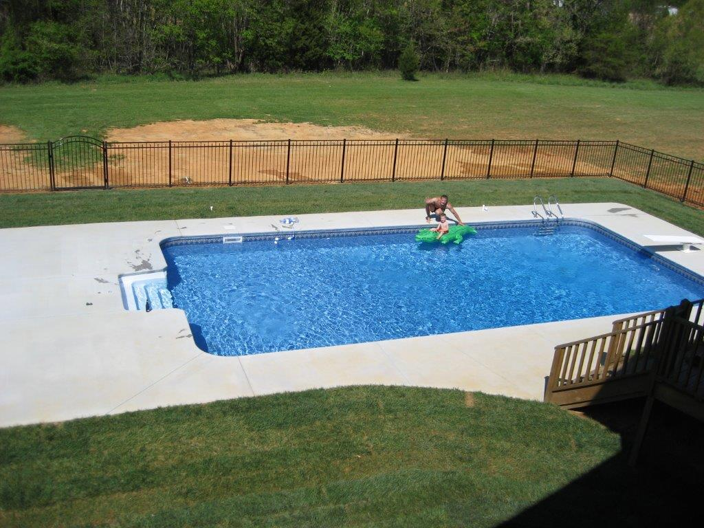 Vinyl pools installation in burlington nc k built for In ground swimming pool contractors