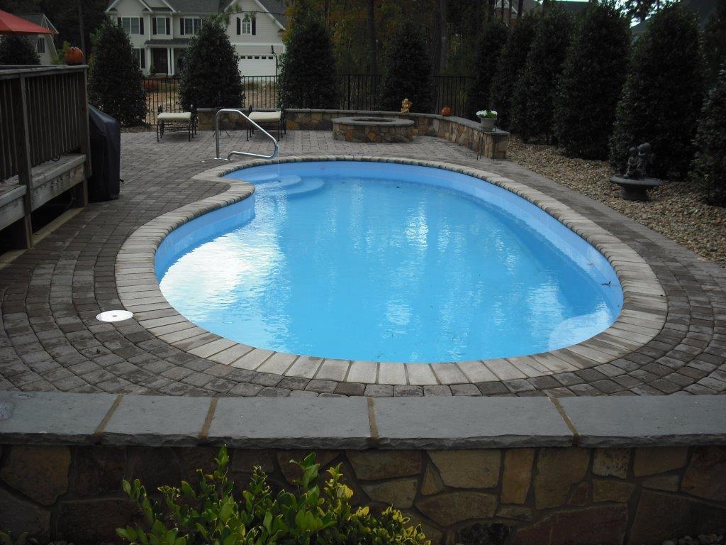 Fiberglass Swimming Pool Installation In Burlington Nc