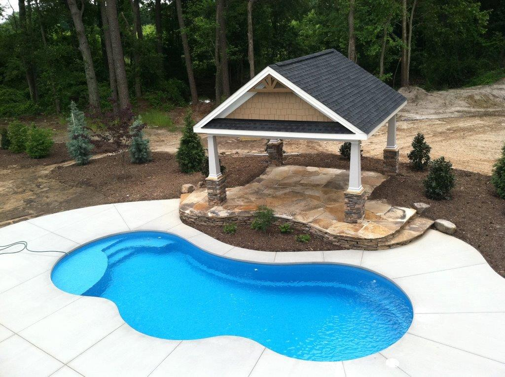 Fiberglass swimming pool installation in burlington nc k built construction of burlington nc Fiberglass swimming pool installation