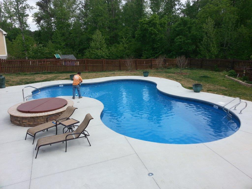 Vinyl Pools Installation In Burlington Nc K Built Construction Of Offers Vinyl Pool Installations